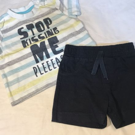 0-3 Months Shorts and Tee